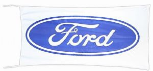 Ford Flag Oval Logo  blue on white landscape 1500mm x 900mm (of)